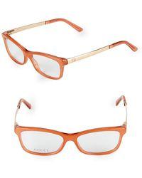 Gucci - 52mm Rectangle Optical Glasses - Lyst