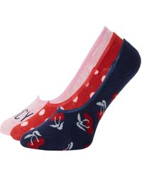 Juicy Couture 3-pack Graphic Liner Socks - Blue