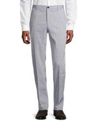 BOSS by HUGO BOSS Stanino17 Textured Regular-fit Dress Pants - Blue