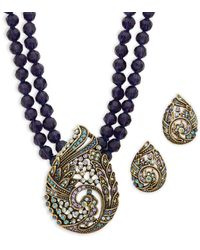Heidi Daus Paisley Necklace & Earrings Set - Multicolour