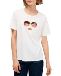 Kate Spade Women's Las Vegas T-shirt - Fresh White - Size Xxs