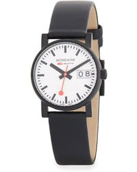 Mondaine - Stainless Steel Strap Watch - Lyst