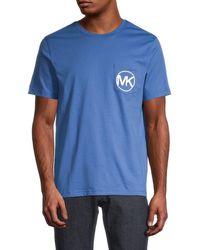 Michael Kors Men's Logo Cotton Pocket T-shirt - Midnight - Size Xxl - Blue