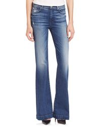 7 For All Mankind - Dojo Distressed Flared Jeans - Lyst