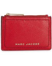 Marc Jacobs Women's The Groove Top Zip Leather Coin Purse - Black