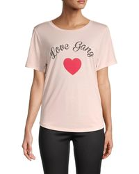 South Parade Graphic Cotton-blend Tee - Pink