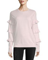 Saks Fifth Avenue - Collection Ruffle Sleeve Cotton Sweatshirt - Lyst