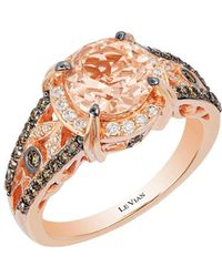 Le Vian - Chocolatier Vanilla Diamond, Chocolate Diamond, Peach Morganite And 14k Strawberry Gold Ring - Lyst