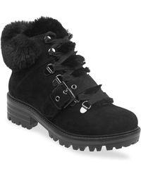 02a44290e996 Sam Edelman Women s Manchester Faux Fur Suede Lace-up Boots - Grey ...