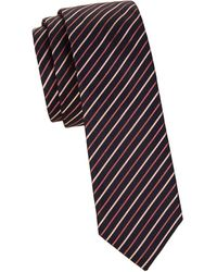 HUGO - Striped Silk Neck Tie - Lyst