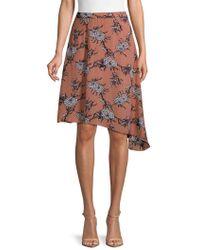 Cirana - Printed Asymmetric Skirt - Lyst