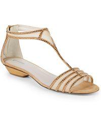 Giorgio Armani - Studded Flat Sandals - Lyst