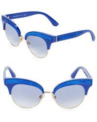 Dolce & Gabbana - 50mm Sequin Trim Cateye Sunglasses - Lyst