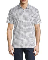 Perry Ellis - Printed Short-sleeve Button-down Shirt - Lyst