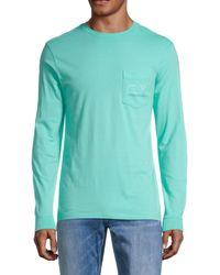 Vineyard Vines Long-sleeve Pocket T-shirt - Green