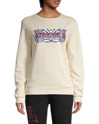 Roberto Cavalli Basic Fleece Graphic Sweatshirt - Multicolour