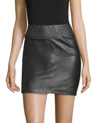 Zadig & Voltaire - Jasmina Studs Mini Skirt - Lyst