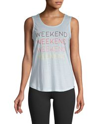 Marc New York Weekend Graphic Tank Top - Blue