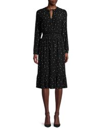 Rails Women's Joy Star-print Dress - Onyx Starburst - Size S - Black