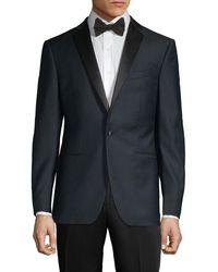 John Varvatos Modern-fit Textured Wool Dinner Jacket - Blue