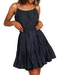RHODE Braided Belt Cotton Dress - Blue
