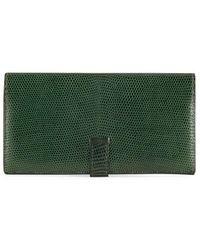 Hermès - Green Lizard Bearn Wallet - Lyst