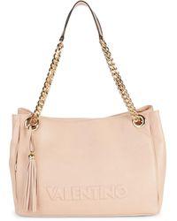 Valentino By Mario Valentino Verra Tassel Chain Leather Tote - Pink
