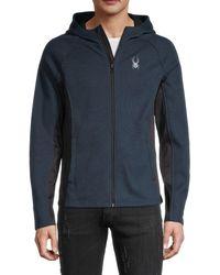 Spyder Full-zip Hooded Jacket - Blue
