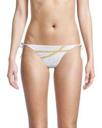 Love Moschino Chain-print String Bikini Bottom - Multicolour