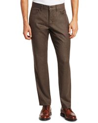 Saks Fifth Avenue Collection Wool-blend Flannel Flat Pants - Brown