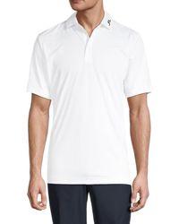 J.Lindeberg Men's Kv American-fit Logo Polo - White - Size Xl