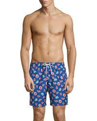 Trunks Surf & Swim Watermelon Print Swim Trunks - Blue