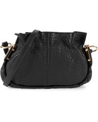 Vince Camuto Textured Leather Crossbody Bag - Black