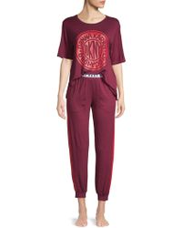 DKNY - 2-piece Logo Pajama Set - Lyst