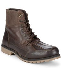 Marc New York - Otis Lace-up Leather High-top Boots - Lyst