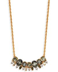 Alexis Bittar Women's Goldplated Pyrite & Crystal Bar Pendant Necklace - Metallic