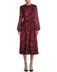 Ted Baker Hadlee Floral Belted Midi Dress - Black