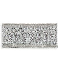 Karl Lagerfeld Faux Pearl Headband - Metallic
