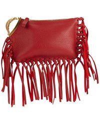 3453b26ff6 Prada Fringe Wristlet Clutch Bag in Black - Lyst