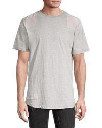 NANA JUDY Sandford Heathered Cotton T-shirt - Grey