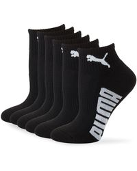 PUMA Six-pack Wordmark Ankle Socks - Black