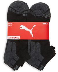 PUMA - Six-pack Logo Cotton Socks - Lyst