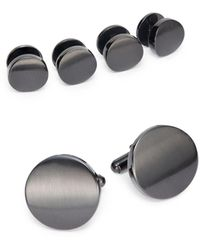 Saks Fifth Avenue Cuff Link & Shirt Stud Set/gunmetal - Metallic