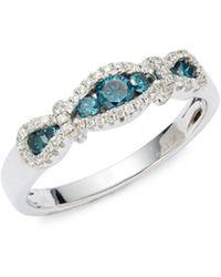 Le Vian Exotics 14k White Gold Ring - Multicolour