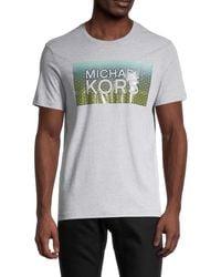 Michael Kors - Men's Logo Graphic T-shirt - Heather Grey - Size L - Lyst