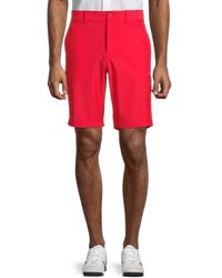 J.Lindeberg Men's Eddy Classic Fit Golf Shorts - Red Bell - Size 30