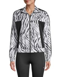 PUMA Zebra-print Cropped Jacket - Black