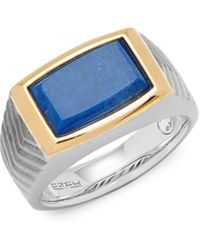 Effy Blue Lapis And Sterling Silver Band Ring