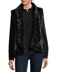 Love Token - Ali Faux Fur Cropped Vest - Lyst