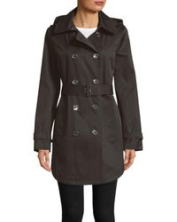Calvin Klein Women's Belted Trench Coat - Black - Size L